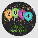 Colorful Confetti & Balloons Happy New Year Stickers