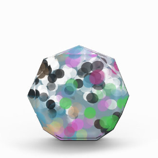 Colorful Confetti Bokeh Dots Acrylic Award