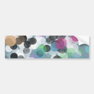 Colorful Confetti Bokeh Dots Bumper Sticker