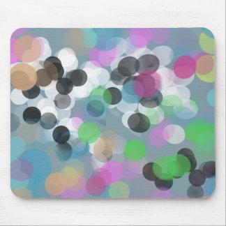 Colorful Confetti Bokeh Dots Mouse Pad