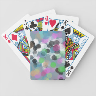 Colorful Confetti Bokeh Dots Bicycle Playing Cards