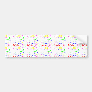 Colorful Confetti Bumper Sticker