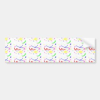 Colorful Confetti Car Bumper Sticker