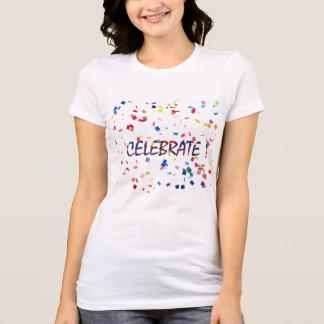 Colorful Confetti Celebrate T-Shirt
