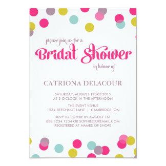 COLORFUL CONFETTI DOTS | BRIDAL SHOWER INVITATION