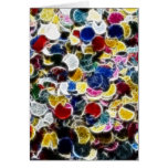 Colorful Confetti Fractal Abstract Cards