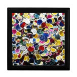 Colorful Confetti Fractal Abstract Jewelry Box