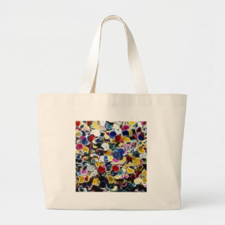 Colorful Confetti Fractal Abstract Jumbo Tote Bag