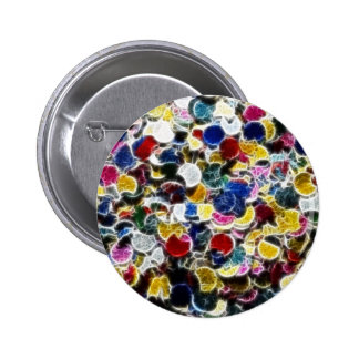 Colorful Confetti Fractal Abstract Pinback Buttons