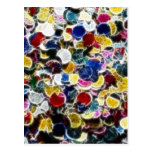 Colorful Confetti Fractal Abstract Post Card