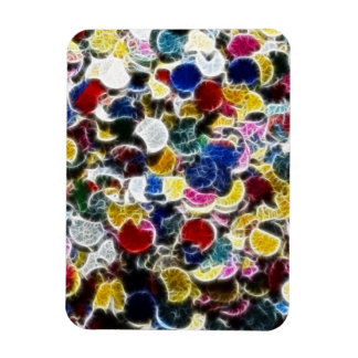 Colorful Confetti Fractal Abstract Flexible Magnets