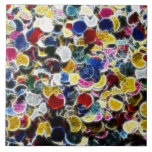 Colorful Confetti Fractal Abstract Tile