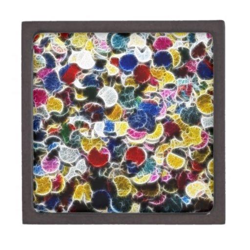 Colorful Confetti Fractal Premium Gift Box