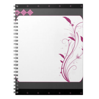 Colorful Confetti Fractal Spiral Notebook