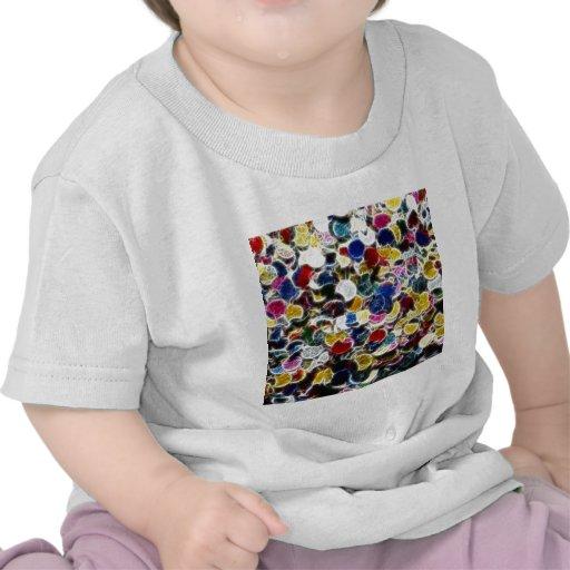 Colorful Confetti Fractal T-shirts