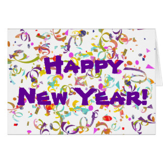 Colorful Confetti New Year Card