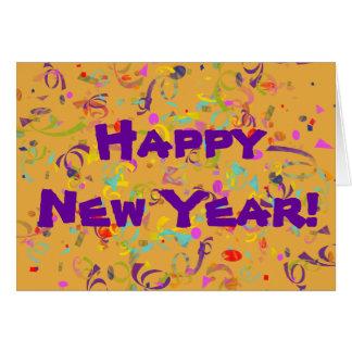 Colorful Confetti New Year Card