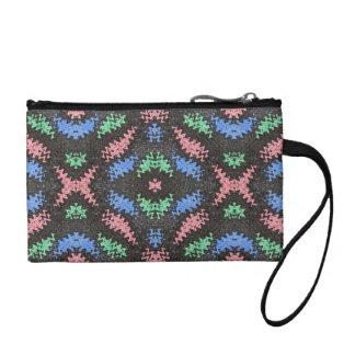 colorful confetti pattern coin purse