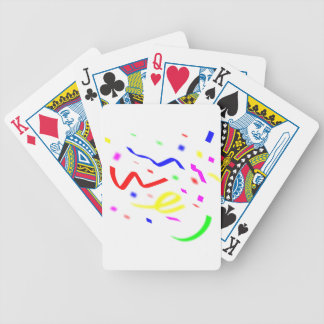 Colorful Confetti Bicycle Poker Deck
