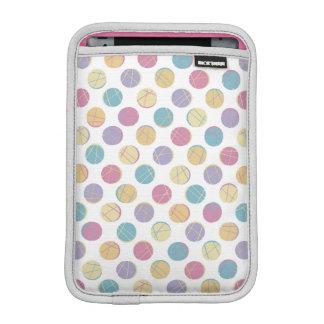 Colorful confetti polka dots modern urban chic iPad mini sleeve