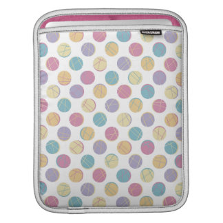 Colorful confetti polka dots modern urban chic sleeves for iPads