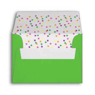 Colorful Confetti Squares Envelope
