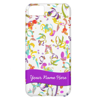Colorful Confetti Toss Over White Cover For iPhone 5C