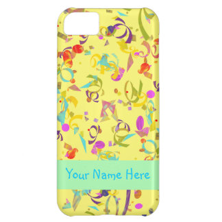 Colorful Confetti Toss Over Yellow iPhone 5C Case