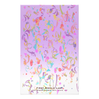 Colorful Confetti Toss Stationery