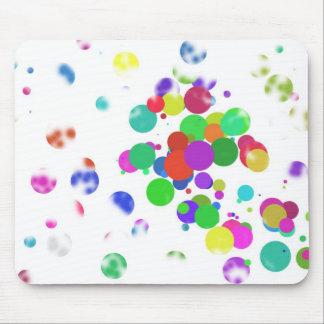 colorful confettis mouse pad