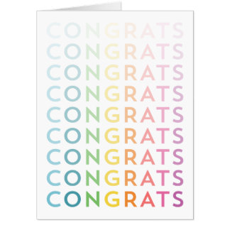 Colorful Congrats Card