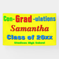 Colorful Congratulations Graduation Party Banner