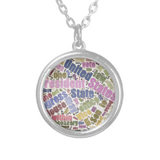 Colorful Constitution Text Graphic Necklaces