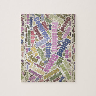 Colorful Constitution Text Graphic Puzzle