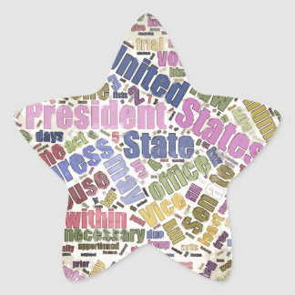 Colorful Constitution Text Graphic Star Sticker