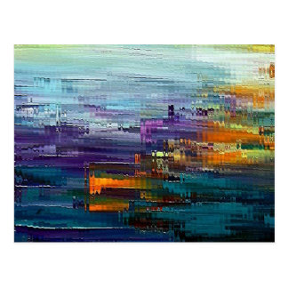 colorful Contemporary by rafi talby Postcard
