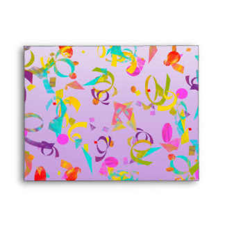 Colorful Contetti Toss Background Envelope