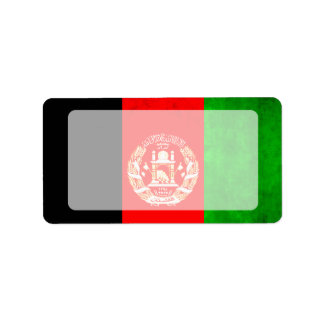 Colorful Contrast Afghan Flag Label