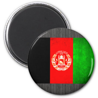 Colorful Contrast Afghan Flag Magnet