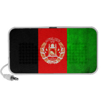 Colorful Contrast Afghan Flag iPod Speakers