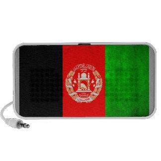 Colorful Contrast Afghan Flag Notebook Speaker