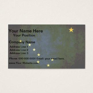 Colorful Contrast Alaskan Flag Business Card