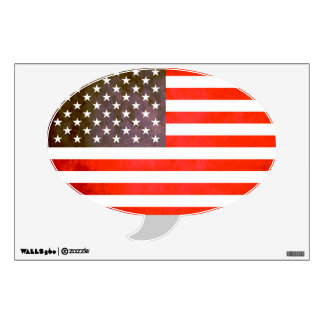 Colorful Contrast AmericanFlag Wall Sticker