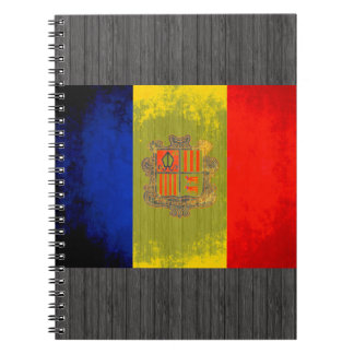 Colorful Contrast Andorran Flag Notebook