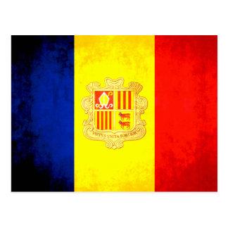 Colorful Contrast Andorran Flag Postcard