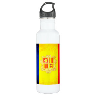 Colorful Contrast Andorran Flag Water Bottle