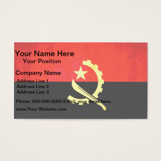Colorful Contrast Angolan Flag Business Card