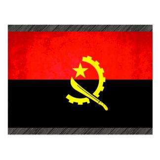 Colorful Contrast Angolan Flag Postcard