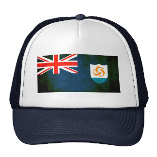 Colorful Contrast Anguillan Flag Trucker Hats