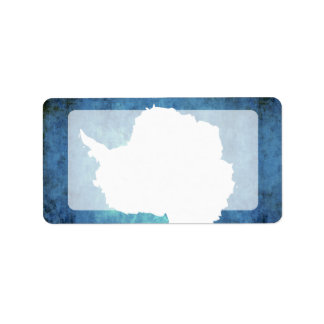 Colorful Contrast Antartican Flag Label